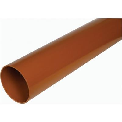 110mm Underground Plain Ended Pipe 3m