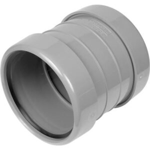 110mm Pushfit Double Socket Slip Coupler Grey