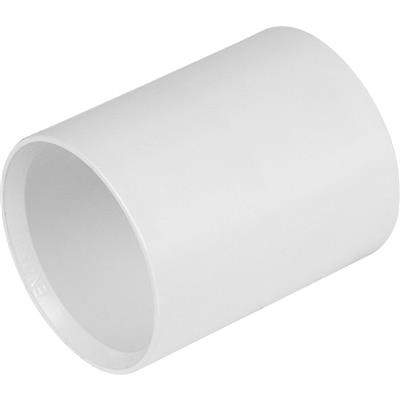 Solvent Straight Coupling 40mm White