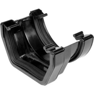 Square - Round Adaptor Gutter Black