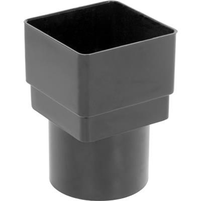 Square - Round Adaptor Black