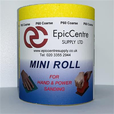 Yellow Ally Oxide Sandpaper P180 115mm x 5M Roll