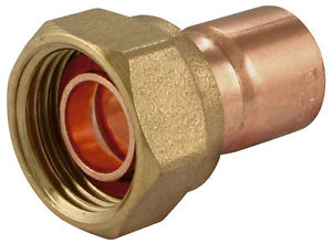 Straight Tap Connector 22mmx3/4""