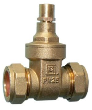 Lockshield Gate Valves - BS5154 22mm