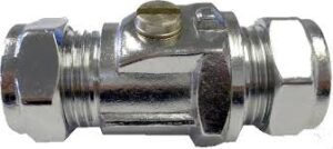 Chrome Isolating Valves Full Bore (Heavy Pattern) 15mm