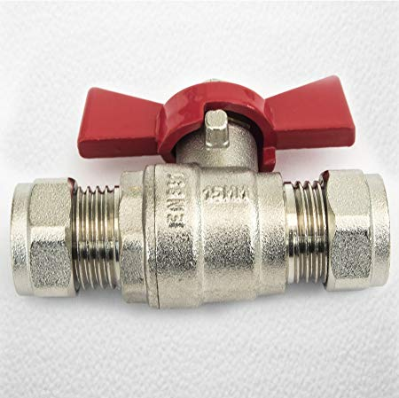 Butterfly Handled Ball - valves Red Handled 22mm