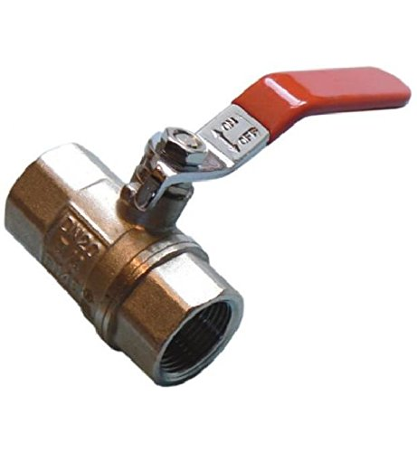 """Lever Ball Valves - Red Handled (Imperial) FxF 3/4"""""""