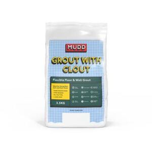 Mudd Dark Grey Flexible Floor and Tile Grout - 3.5kg