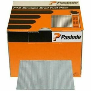 Paslode IM65 Brads & Fuel Cells Pack - Straight - Electro Galvanised 16g x 16/2BFC 2000Pk